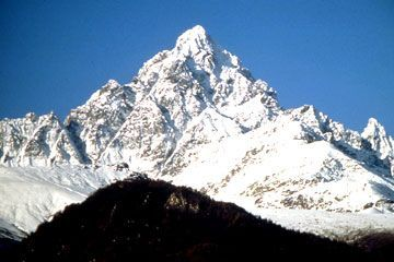 Piedmont - Monviso, 3,841 meters, is the highest mountain of the Cottian Alps