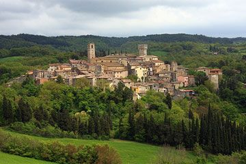 Tuscany - San Casciano (Chianti) - renowned for wine and olive oil production