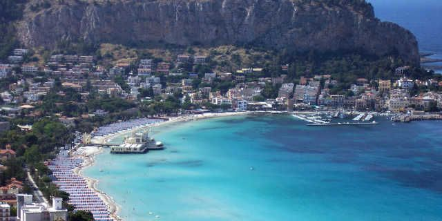Mondello: a lovely beach in Palermo, Sicily