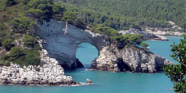 gargano  along its astonishing coastline from vieste to rodi