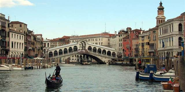Venice, along the worldwide famous Canal Grande