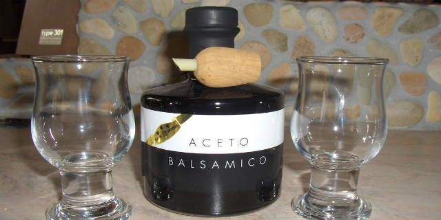 Traditional Modena's balsamic vinegar, sweet-and-sour flavor