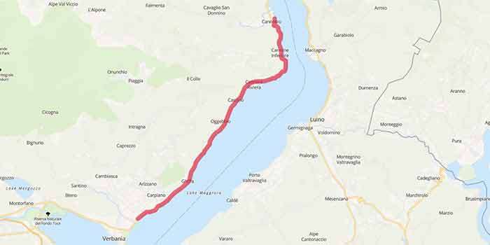 Walking along the amazing west shore of Lake Maggiore - Mappa