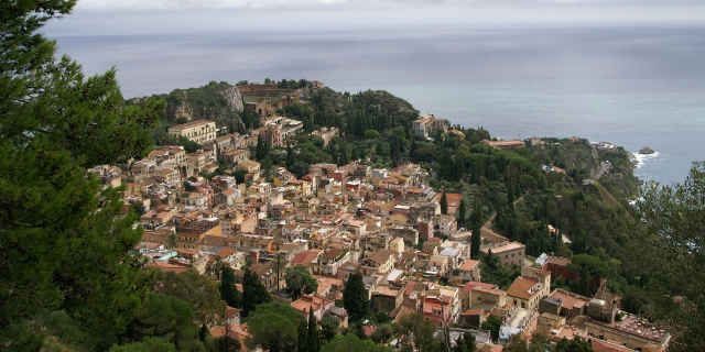 Taormina, the Sicily's terrace overlooking Mount Etna