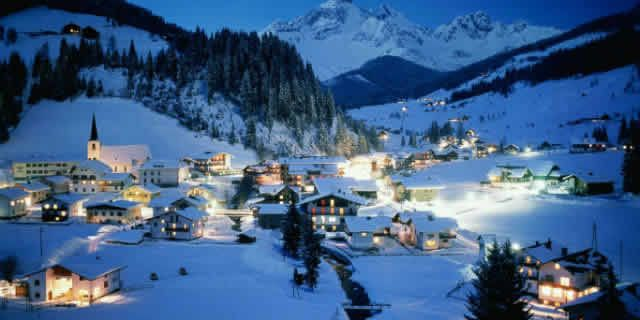 The ski resort of Piancavallo in the Friulian Dolomites