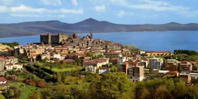 The Medieval villages around Lake Bracciano near Rome