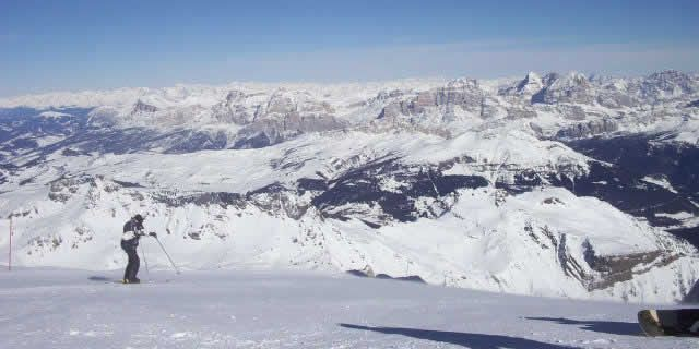 Arabba, a beautiful ski resort in the Dolomites