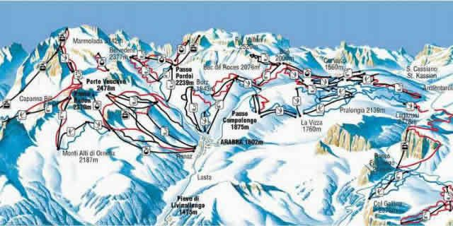 Arabba a beautiful ski resort in the Dolomites
