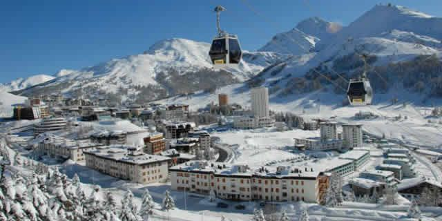 Sestriere, the popular ski resort and winter destination