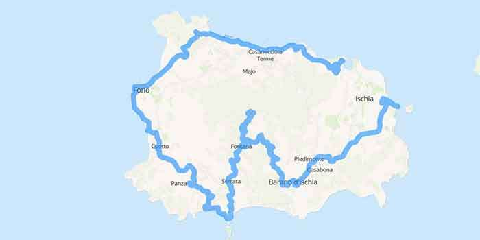 Ischia: the wonderful island in the gulf of Naples - Mappa