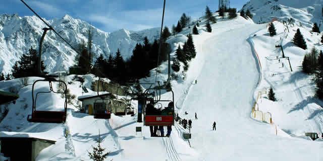 Ponte di Legno, the largest ski area in Lombardy, Italy