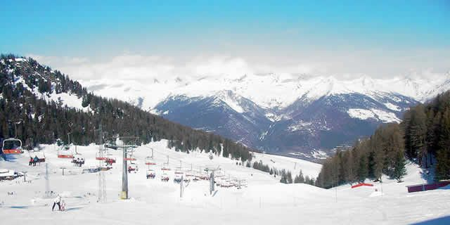 Pila, the beautiful ski resort located in Aosta Valley