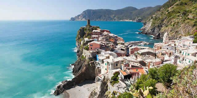 The scenic Road of the Sanctuaries, Cinque Terre in Liguria