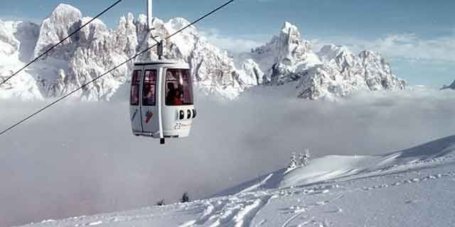 The stunning ski resort of San Martino di Castrozza