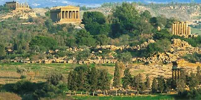 Valley of the Temples, Agrigento, ancient Hellenic evidence