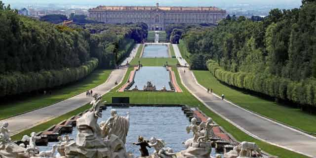 Caserta, and the imposing Baroque-style Reggia of Caserta