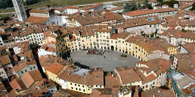 Lucca, the city with Renaissance walls, churches and towers