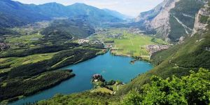 Scenic drive among the most beautiful lakes in the Dolomites